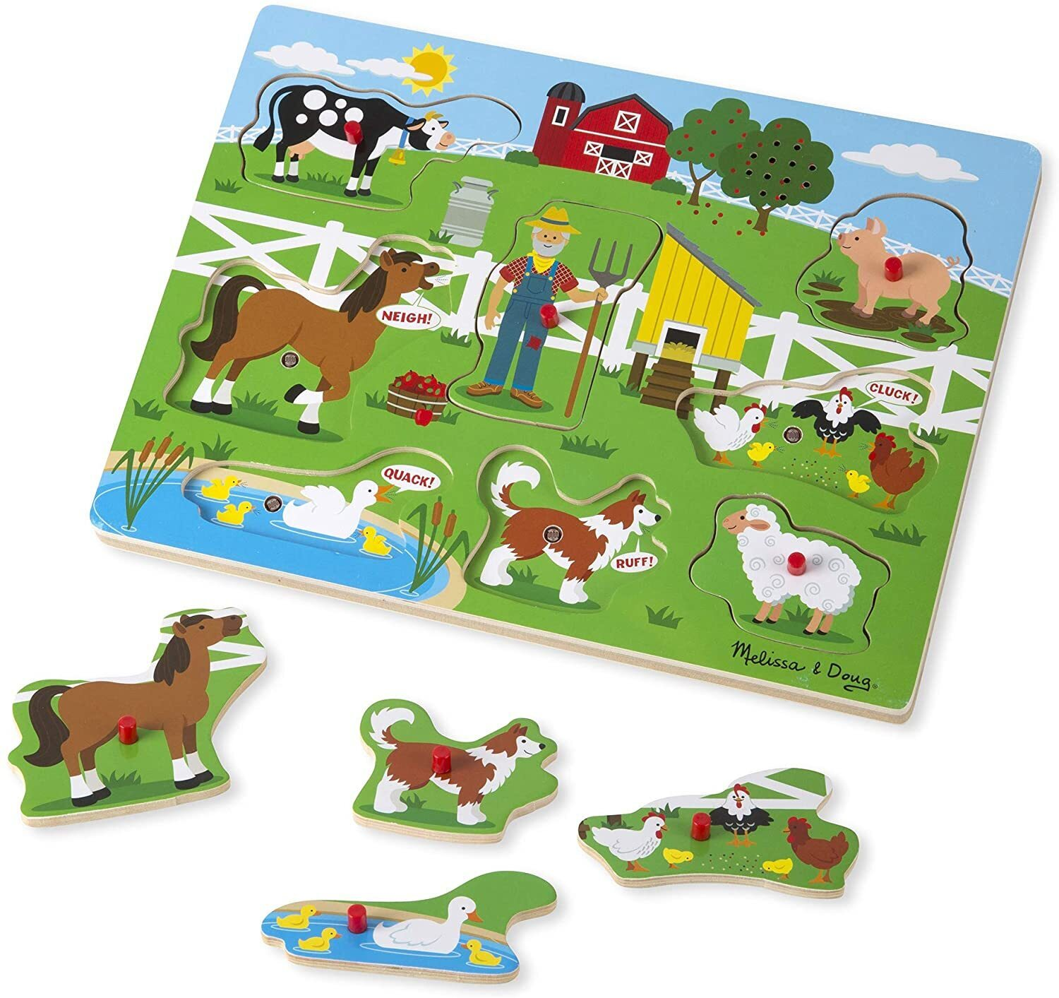 Farm Toddler Toys Age Two : Buy melissa doug old macdonald farm sound puzzle pc