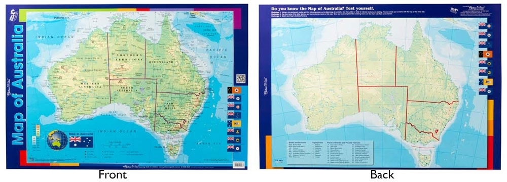 Buy Map Of Australia.Buy Gillian Miles Map Of Australia Double Sided Chart