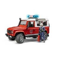 Bruder - Land Rover Defender Fire Department Vehicle with Fireman 02596