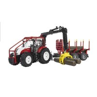 Bruder - Steyr CVT 6230 Forestry Tractor with Trailer 03093