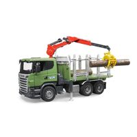 Bruder - Scania R-Series Timber Truck with Loading Crane 03524