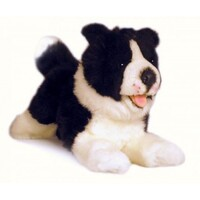Bocchetta - Patch Border Collie Lying Plush Toy 28cm