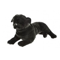Bocchetta - Bandit Black Pug Lying Plush Toy 44cm