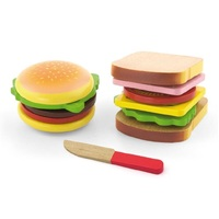 Viga Toys - Hamburger & Sandwich Set