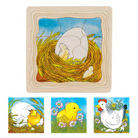 GOKI - Chicken Egg Life Cycle 4 Layer Puzzle