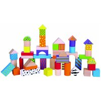 Viga Toys - Colourful Block Set 50pce