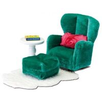 Lundby - Smaland Armchair with Footstool