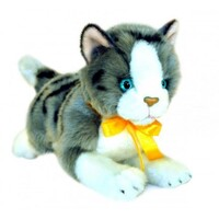 Bocchetta - Leila Norwegian Grey & White Cat Plush Toy 22cm