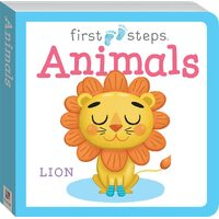 Hinkler - First Steps Board Book: Animals