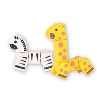 Discoveroo - Snap Blocks - Giraffe and Zebra
