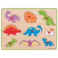 Bigjigs  Dinosaur Lift Out Puzzle 9pc