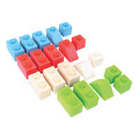 Bigjigs - Click Blocks Primary Basic 20pcs