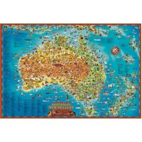 Blue Opal - Giant Map Down Under Puzzle 300pc