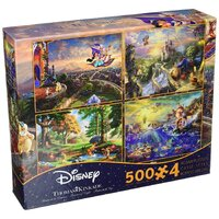Ceaco - Thomas Kinkade - Disney Dreams - 4-in-1 Multipack Puzzles 500pc