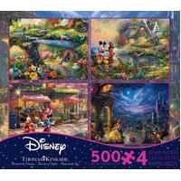 Ceaco - Thomas Kinkade Disney Dreams Collection 4-in-1 Puzzles 500pc