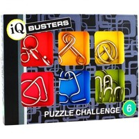 Cheatwell Games - IQ Buster Metal Puzzle Challenge (set of 6)