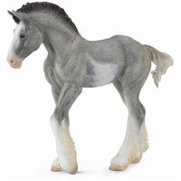 Collecta - Clydesdale Foal Black Sabino Roan 88626