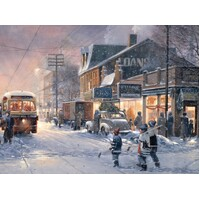 Cobble Hill - Hockey Night Large Piece Puzzle 275pc
