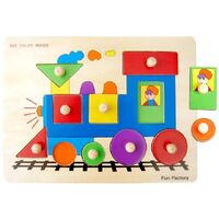 Fun Factory - Train Peg Puzzle (10pce)