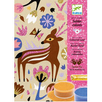 Djeco - Woodland Wonderland Coloured Sand Kit