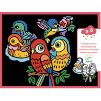 Djeco - Baby Birds Velvet Colouring