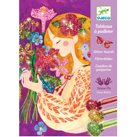 Djeco - Scent of Flowers Glitter Boards