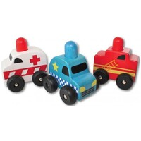 Discoveroo - Squeaker Emergency Cars (Set of 3)
