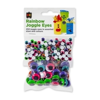 EC - Rainbow Joggle Eyes (250 pack)