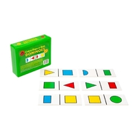 Learning Can Be Fun - Colour, Shape Or Both Dominoes