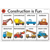 Learning Can Be Fun - Construction Is Fun Placemat