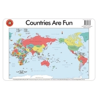 Learning Can Be Fun - Countries are Fun Placemat