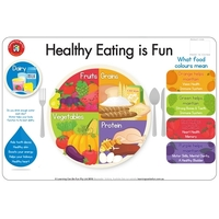 Learning Can Be Fun - Healthy Eating Is Fun Placemat
