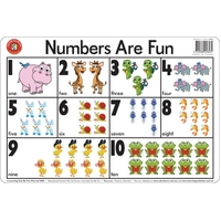 Learning Can Be Fun - Numbers Are Fun Placemat