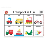 Learning Can Be Fun - Transport Placemat