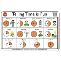 Learning Can Be Fun - Telling Time is Fun Placemat