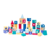 Learning Can Be Fun - Build and Play Alphabet Blocks (set of 50)