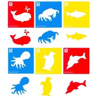 EC - Stencil Sea Life (set of 6)