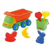 Polesie - Truck and Sand Play Set (7 pieces)