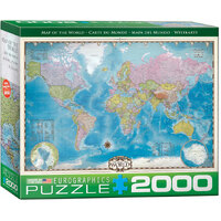 Eurographics - Map of the World Puzzle 2000pc