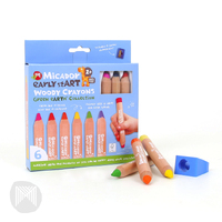Micador - Early Start Woody Crayons (6 pack)