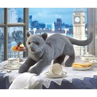 Folkmanis - Purring Grey Cat Puppet