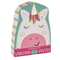 Floss and Rock - Rainbow Unicorn Puzzle 12pc