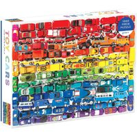 Galison - Rainbow Toy Cars Puzzle 1000pc