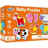 Galt - Baby Puzzles - Farm - 2pc