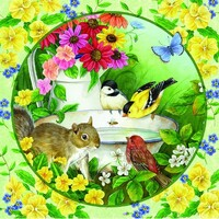 Holdson - Flower Friends Morning Bath Circle Puzzle 500pc