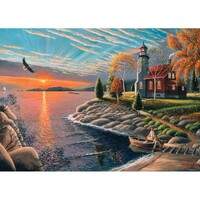 Holdson - A Safe Haven, Lighthouse at Sunrise Puzzle 1000pc