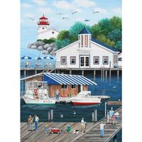 Holdson - Dock of the Bay - Laughing Gulls Landing Puzzle 1000pc