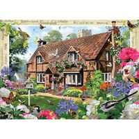 Holdson - Blossom Borders Peony Cottage Large Piece Puzzle 500pc