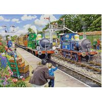 Holdson - At the Station - Horsted Keynes On The Bluebell Railway Large Piece Puzzle 500pc