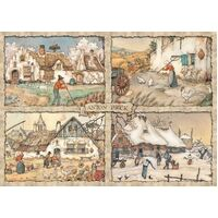 Jumbo - Anton Pieck, Four Seasons Puzzle 1000pc